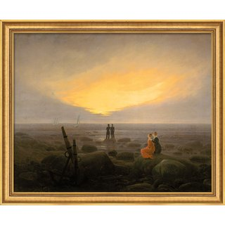 Caspar David Friedrich: Bild 'Mondaufgang am Meer' (1821), gerahmt