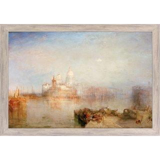 William Turner: Bild 'Dogana und Santa Maria della Salute, Venedig' (1843), gerahmt