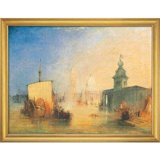 William Turner: Bild 'Venedig' (1818), gerahmt
