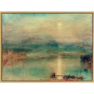 William Turner: Bild 'Mondschein über dem Vierwaldstätter See' (um 1841-44), gerahmt