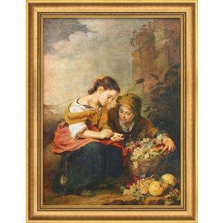 Bartolomé E. Murillo: Bild 'Die kleine Obsthändlerin' (1675), gerahmt