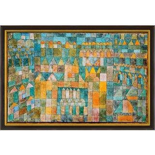 Paul Klee: Bild 'Tempelviertel von Pert' (1928), gerahmt