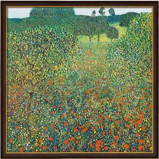 Gustav Klimt: Bild 'Feld mit Mohn' (1905), gerahmt