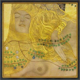 Gustav Klimt: Bild 'Wasserschlangen I' (1904-07), gerahmt