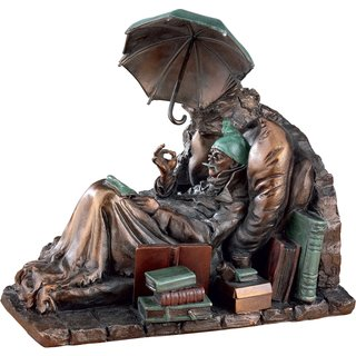 Carl Spitzweg: Skulptur 'Der arme Poet' (1839), Kunstguss