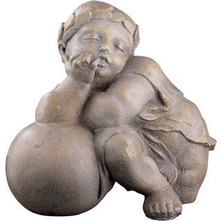 Sebastian Loscher: Replikat 'Putte aus der Fuggerkapelle III' (um 1530), Kunststein Antikfinish