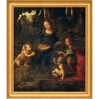 Leonardo da Vinci: Bild 'Madonna in der Felsengrotte' (1483-1486), gerahmt
