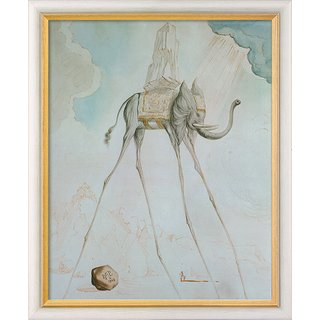 Salvador Dalí: Bild 'L'Éléphant Giraffe' (1948), gerahmt