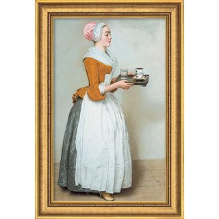 Jean-Étienne Liotard: Bild 'Schokoladenmädchen' (1743-45), gerahmt