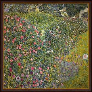Gustav Klimt: Bild 'Italienische Gartenlandschaft' (1913), gerahmt