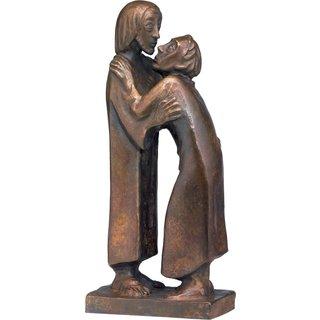 Ernst Barlach: Skulptur 'Das Wiedersehen' (1930), Reduktion in Bronze