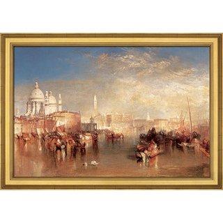 William Turner: Bild 'Venedig, vom Canale della Giudecca aus gesehen' (1840), gerahmt