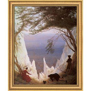 Caspar David Friedrich: Bild 'Kreidefelsen auf Rügen' (1818), gerahmt