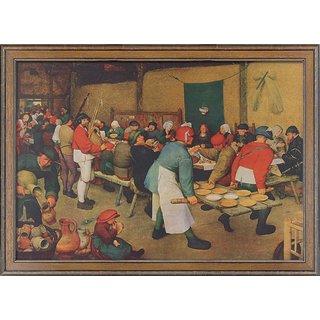 Pieter Brueghel d. Ä.: Bild 'Bauernhochzeit' (1568), gerahmt