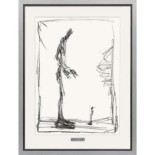 Alberto Giacometti: Bild 'Dessin I (Groß und klein)', gerahmt