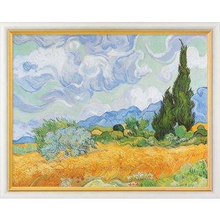 Vincent van Gogh: Bild 'Weizenfeld mit Zypressen' (1889), gerahmt