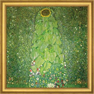 Gustav Klimt: Bild 'Die Sonnenblume' (1907), gerahmt