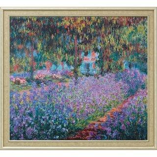 Claude Monet: Bild 'Irisbeet in Monets Garten' (1900), gerahmt