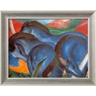 Franz Marc: Bild 'Die großen blauen Pferde' (1911), gerahmt