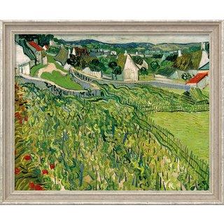 Vincent van Gogh: Bild 'Weinberge mit Blick auf Auvers' (1890), gerahmt