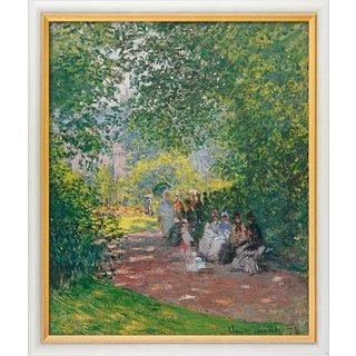 Claude Monet: Bild 'Im Park Monceau' (1878), gerahmt