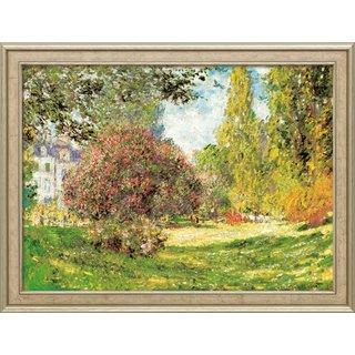 Claude Monet: Bild 'Der Park Monceau' (1876), gerahmt