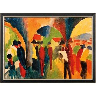 August Macke: Bild 'Unter den Lauben von Thun' (1913), gerahmt