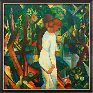 August Macke: Bild 'Paar im Wald' (1912), gerahmt