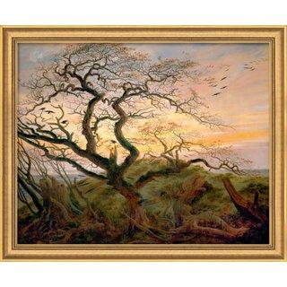 Caspar David Friedrich: Bild 'Baum mit Raben', gerahmt