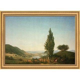 Caspar David Friedrich: Bild 'Der Sommer (Landschaft mit Liebespaar)', gerahmt
