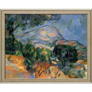 Paul Cézanne: Bild 'La Montagne Sainte-Victoire' (um 1894), gerahmt