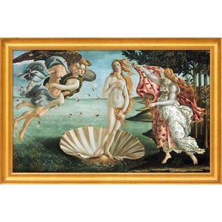 Sandro Botticelli: Bild 'Die Geburt der Venus' (1484/86), gerahmt