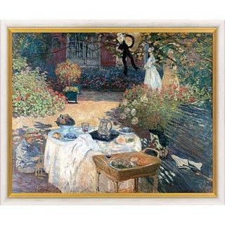 Claude Monet: Bild 'Im Garten Claude Monets in Argenteuil' (1873), gerahmt