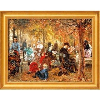Adolph von Menzel: Bild 'Im Jardin de Luxembourg' (1876), gerahmt