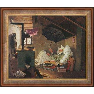 Carl Spitzweg: Bild 'Der arme Poet' (1839), gerahmt