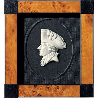 Miniatur-Porzellanbild 'Friedrich II.', gerahmt