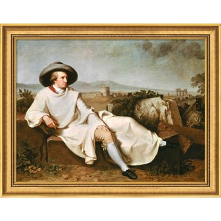 Johann Heinrich Wilhelm Tischbein: Bild 'Goethe in der Campagna' (1786/87), gerahmt