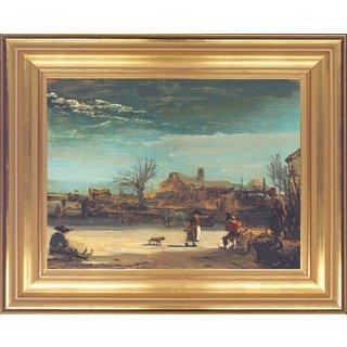 Rembrandt: Bild 'Winterlandschaft' (1646), gerahmt