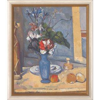 Paul Cézanne: Bild 'Die blaue Vase', gerahmt