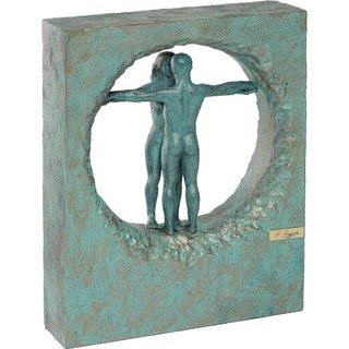Angeles Anglada: Skulptur 'Aufrichtigkeit', Kunstguss Steinoptik