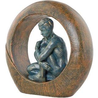 Angeles Anglada: Skulptur 'Saturn', Kunstguss Steinoptik