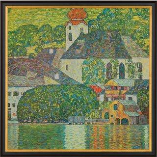 Gustav Klimt: Bild 'Kirche in Unterach am Attersee' (1916), gerahmt
