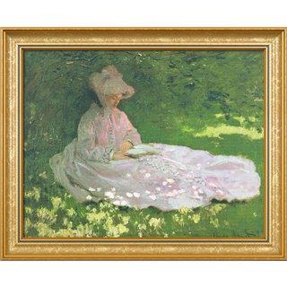 Claude Monet: Bild 'Die Lesende' (1872), gerahmt