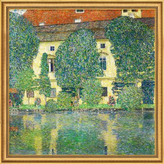 Gustav Klimt: Bild 'Schloss Kammer am Attersee III' (1910), gerahmt