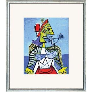 Pablo Picasso: Bild 'Frau mit Vogel', gerahmt