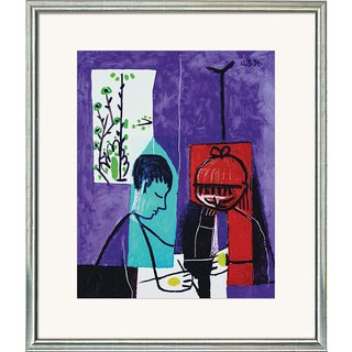 Pablo Picasso: Bild 'Zeichnende Kinder', gerahmt