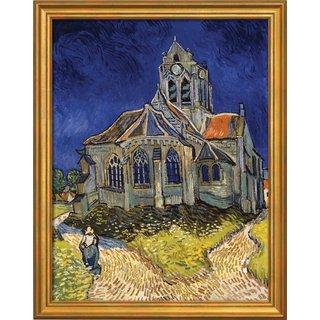 Vincent van Gogh: Bild 'Kirche von Auvers-sur-Oise' (1890), gerahmt
