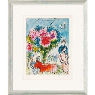 Marc Chagall: Bild 'Personnages fantastiques' (1974), gerahmt