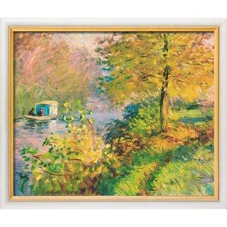 Claude Monet: Bild 'Das Atelierboot' (1876), gerahmt