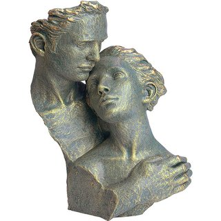 Angeles Anglada: Skulptur 'Hingabe', Kunstguss Steinoptik